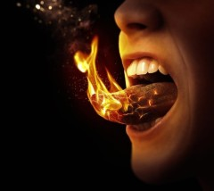 Tongue on fire